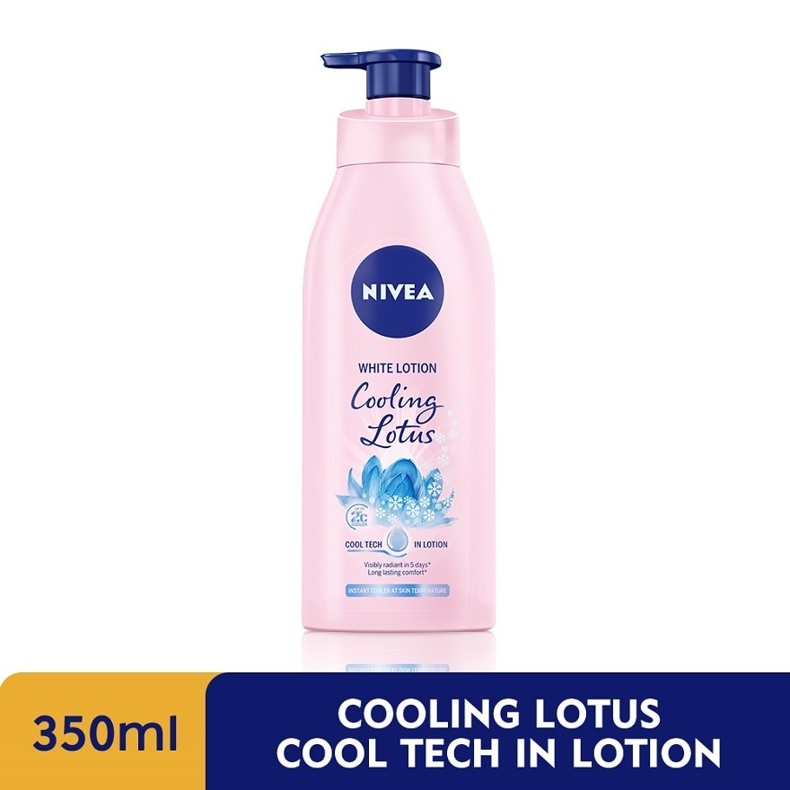 NIVEAWhite Cooling Lotus Cool Tech in Lotion 350ml,PWP @ RM5 CALENDER ISHOME DELIVERY (WM)