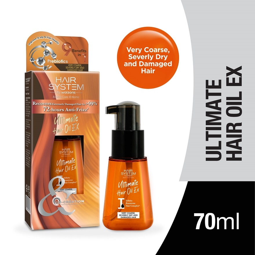 HAIR SYSTEM BY WATSONSUltimate Hair Oil 70ml(Very Coarse,Damaged Hair),VOUCHER RM5 OFF OLVOUCHER RM5 OFF OL