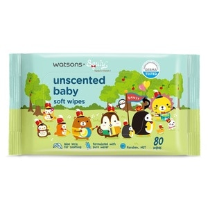 WATSONSSquly & Friends Unscented Baby Wipes 80s,POINT REDEMPTIONEARLY BIRD FREE GIFT