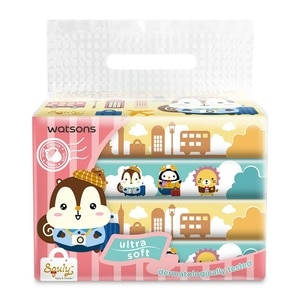 WATSONSSquly & Friends Travel Tissues 3ply 50sheets x 4s,VOUCHER RM5 OFF OLVOUCHER RM5 OFF OL