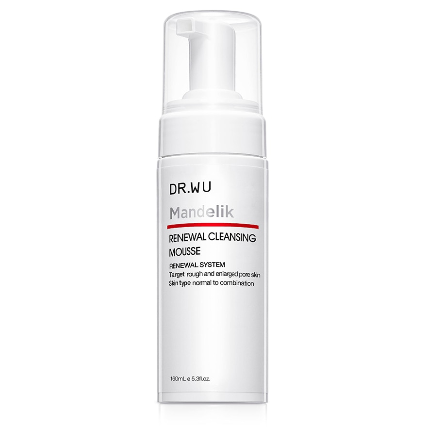 DR. WURenewal Cleansing Mousse with Mandelic Acid 160ml,MEMBER @ 10% AUG
