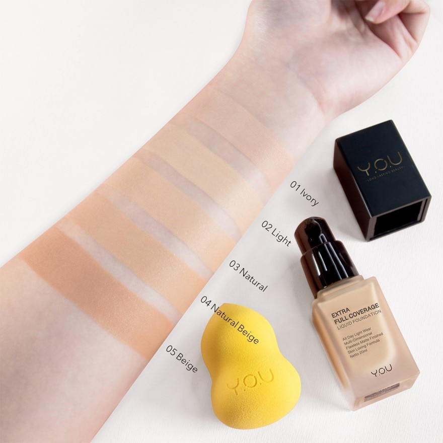 Y.O.UExFull Coverage Liquid Foundation 03 Natural,ECOUPON RM8 OFF DECPOINT REDEMPTION