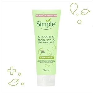 SIMPLEKind to Skin Smoothing Cleansing Scrub 75ml,ExfoliatorsVOUCHER RM10 OFF JUL MBMS