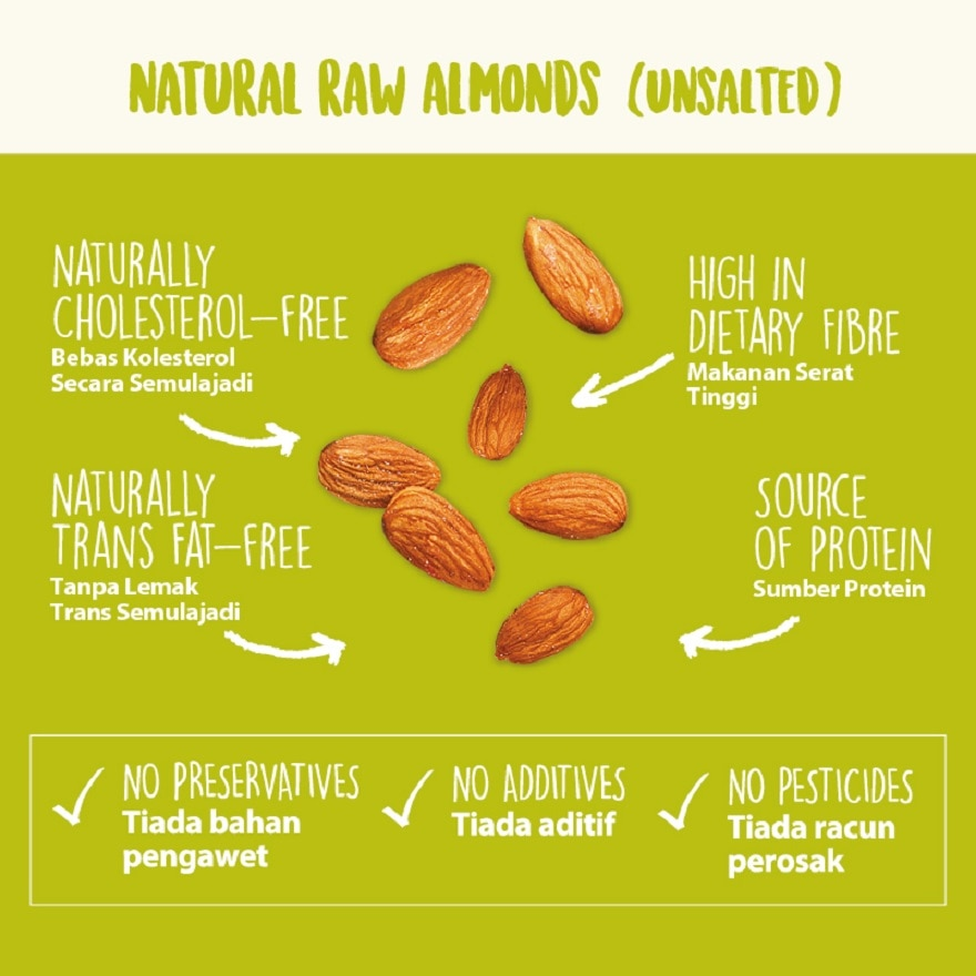 NUTRABLISS BY WATSONSRaw Almonds (Unsalted),VOUCHER RM5 OFF OLVOUCHER RM5 OFF OL