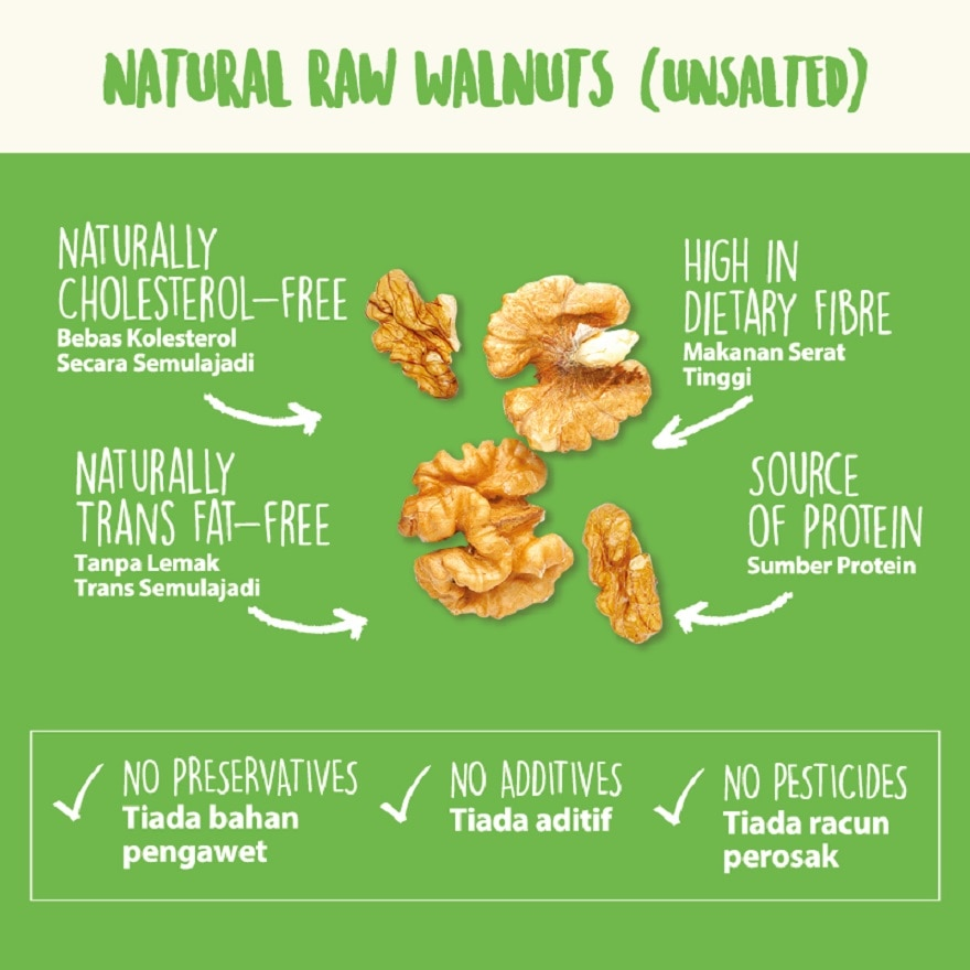 NUTRABLISS BY WATSONSNatural Raw Walnuts (Unsalted),VOUCHER RM5 OFF OLVOUCHER RM5 OFF OL