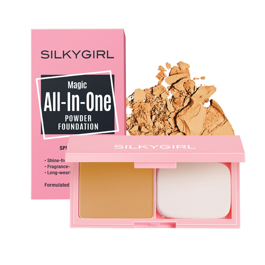 SILKY GIRLMagic All-In-One Powder Foundation 06 Honey,ECOUPON RM8 OFF DECECOUPON RM7 OFF JAN21