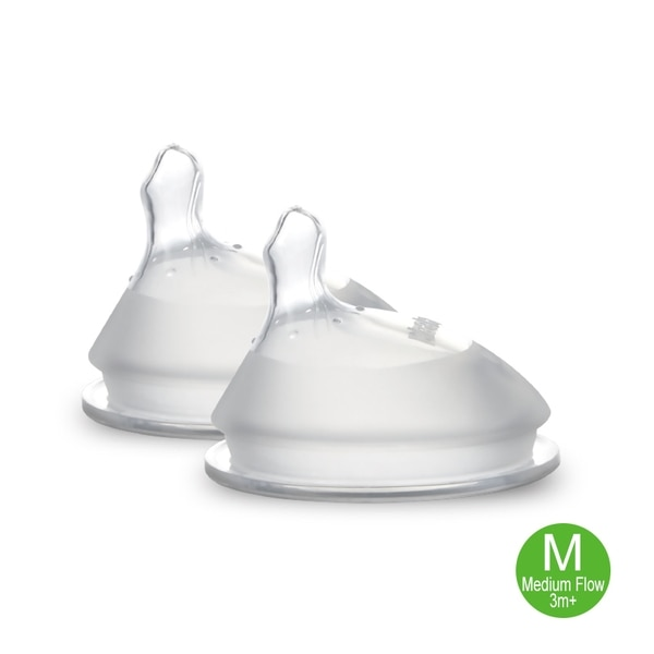HAAKAAGen 3 Silicone Orthodontic Bottle Nipple - 2pcs M,POINT REDEMPTIONBASIC EARN POINTS (TAX)