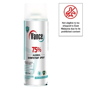 VANCEVance 75% Alcohol Disinfectant Spray 450ml,ECOUPON RM13 OFFPWP @ RM12.80 IS