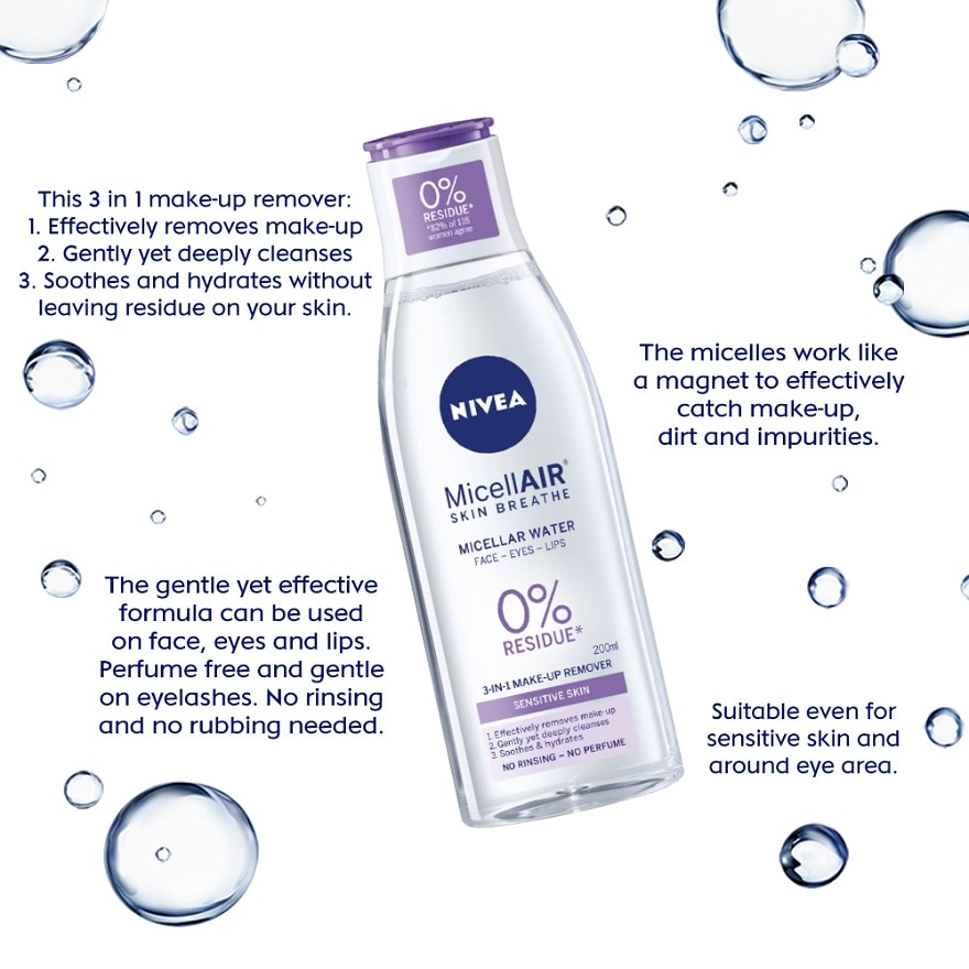NIVEAMicellAIR Skin Breathe O2 Increase Uptake 200ml,MBR ECOM ADD 10% OFF JAN21MBR INSTANT RBT RM15 OFF ECOM CITI BANK