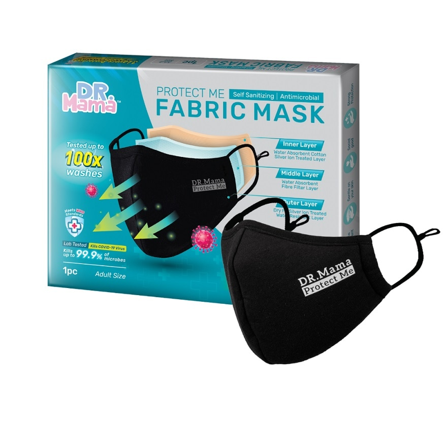 DR MAMAProtect Me Re-washable Adult Fabric Mask 1's,VOU RM7 OFF CAREBOX HA QRECOUPON RM13 OFF