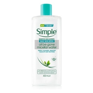 SIMPLEDaily Skin Detox Micellar Cleansing Water 400ml,ECOUPON RM10 OFF ECOMECOUPON RM7 OFF ECOM