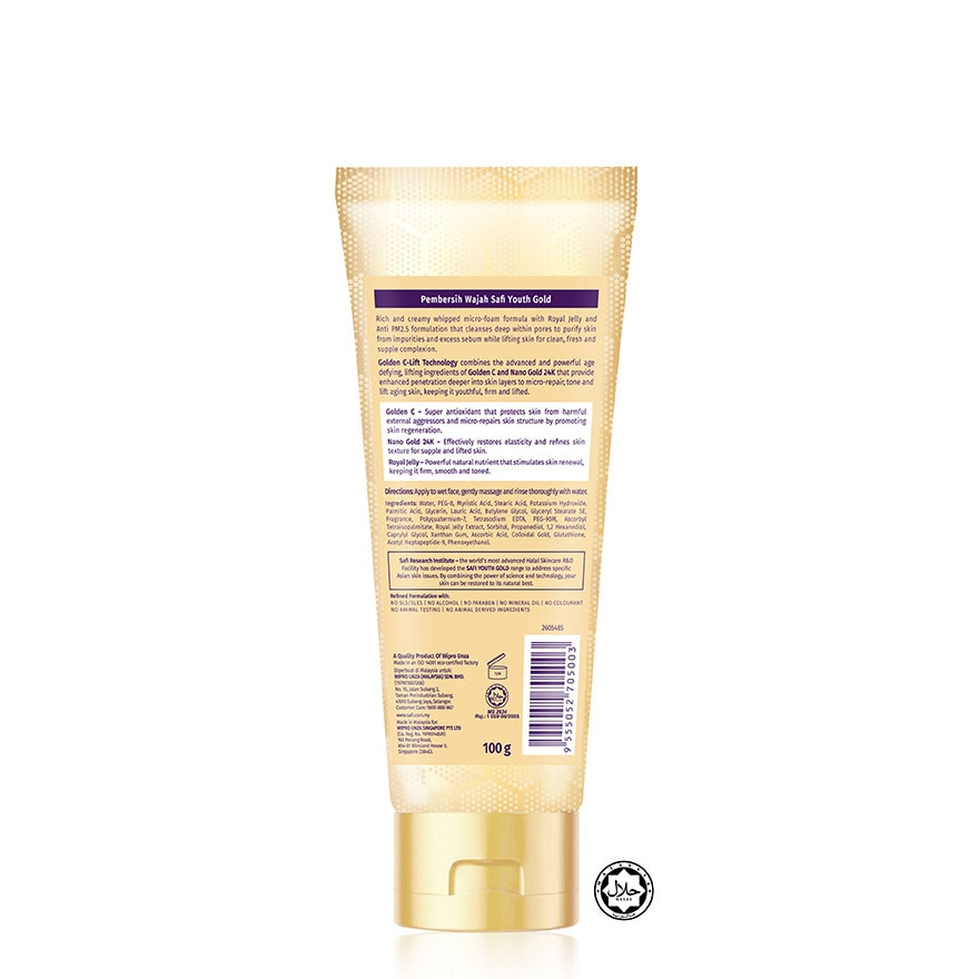 SAFIYouth Gold Whipped Foam Cleanser 100G,ECOUPON RM13 OFFGWP BIFESTA BEAUTY PACK ECOM