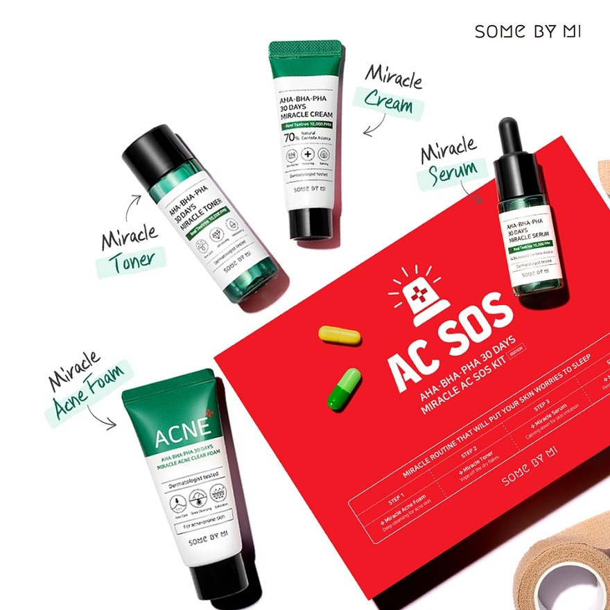 SOME BY MIAHA-BHA-PHA 30 Days Miracle AC SOS KIT 1S,ECOUPON RM13 OFFGWP BIFESTA BEAUTY PACK ECOM