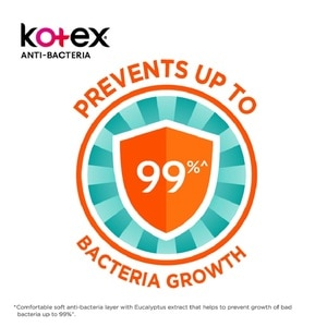KOTEXAnti Bacteria Overnight Wing 32cm 12's,VOU RM8 OFF PC WS COOL AUGPWP @ 30% AUG