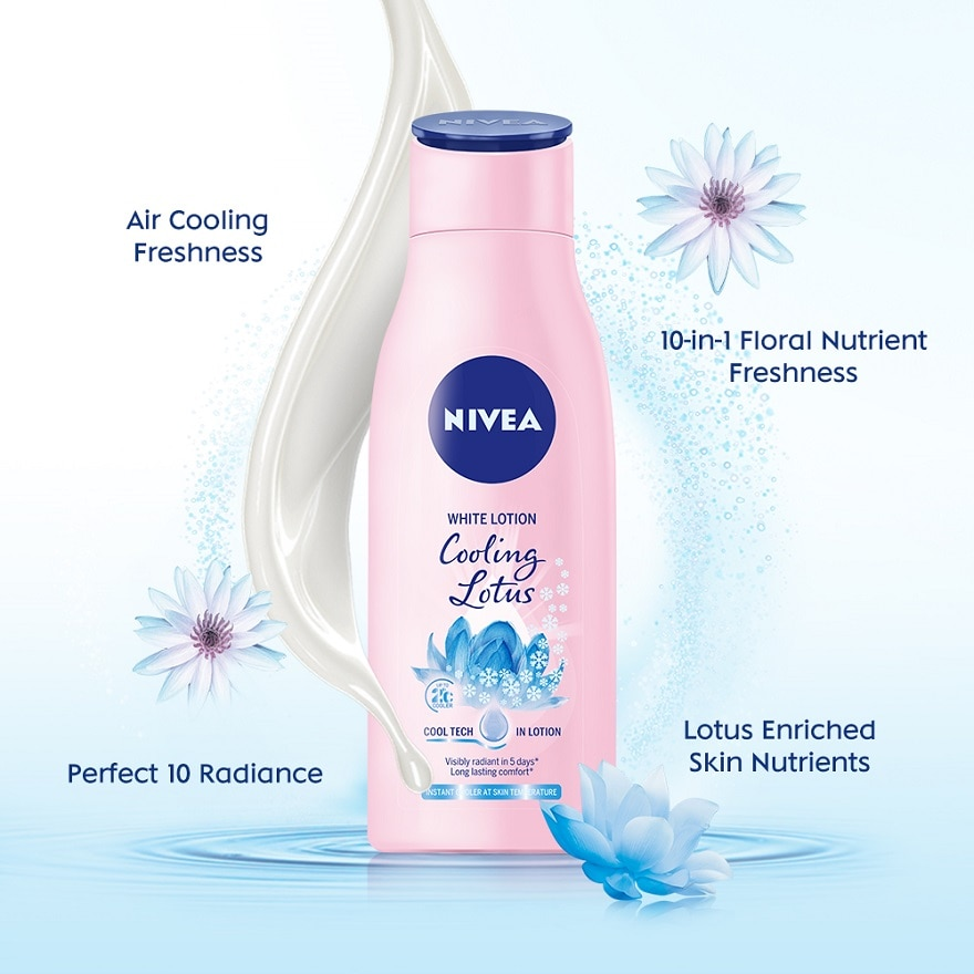 NIVEAWhite Cooling Lotus Cool Tech in Body Lotion 200ml,POINT REDEMPTIONFREE GIFT