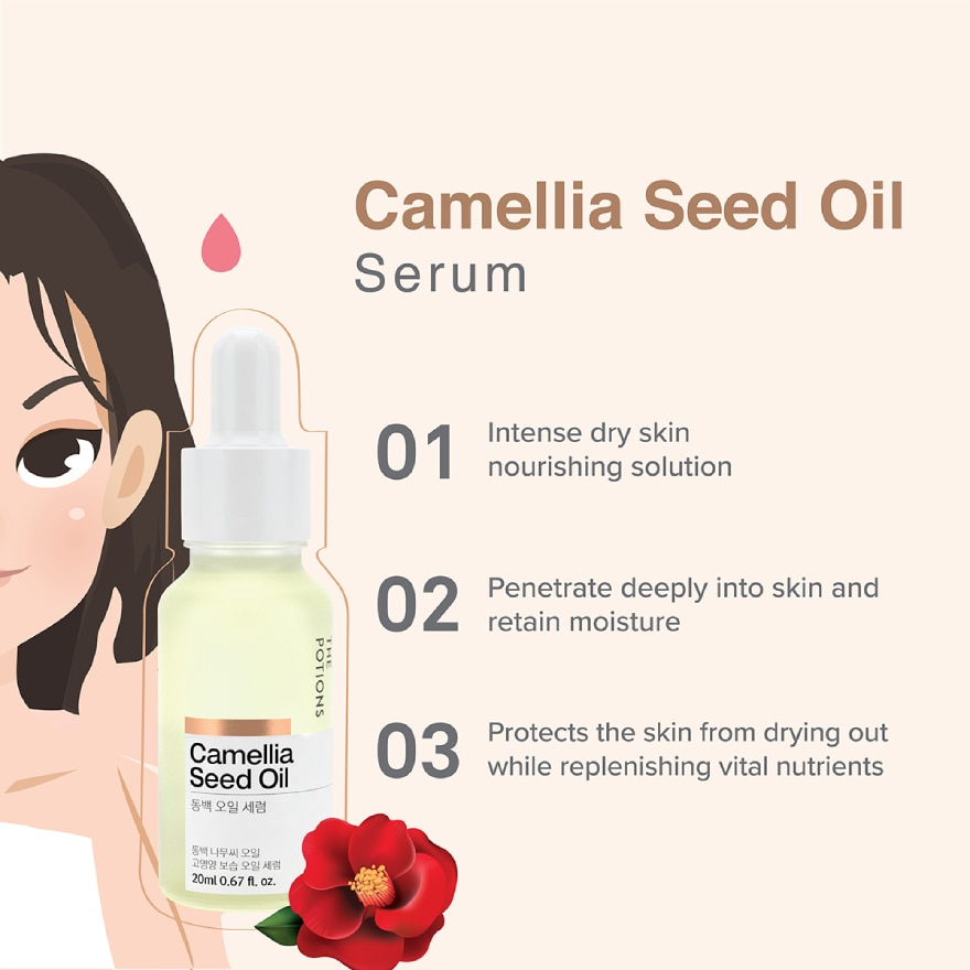 THE POTIONSCamellia Seed Oil Serum 20ml,8.8MegaSale2 FOR RM88 ECOM