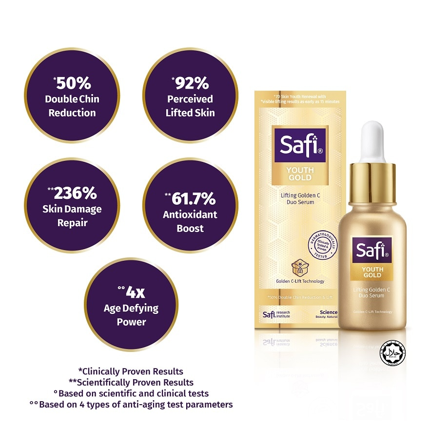SAFIYouth Gold Lifting Golden C Duo Serum 30ml,GET 2X POINTS T&G TMPECOUPON RM8 OFF DEC
