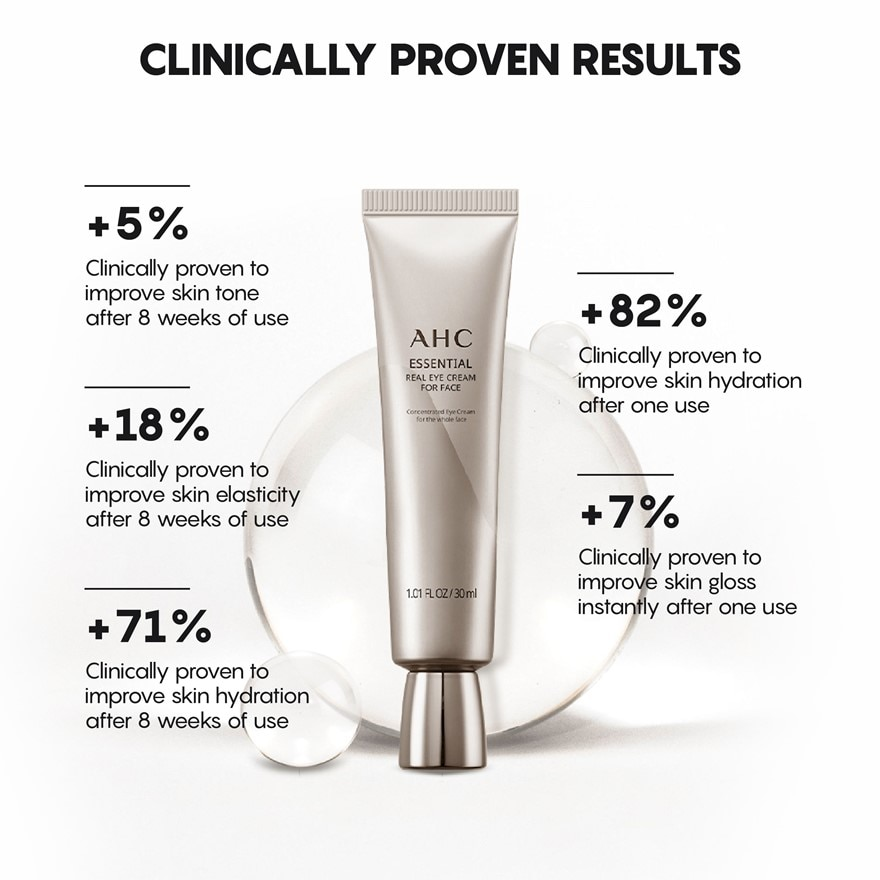 AHCEssential Eye Cream For Face 30ml,GET 2X POINTS T&G TMPFREE GIFT